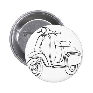 Vintage Scooter 2 Inch Round Button