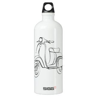 Vintage Scooter Aluminum Water Bottle