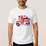Vintage Scooter and faded Union jack T-Shirt