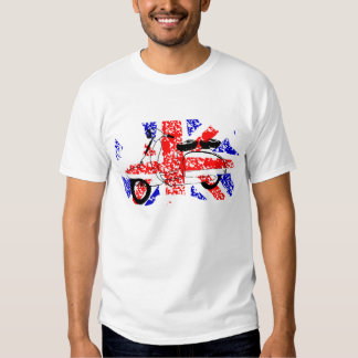 Vintage Scooter and faded Union jack Tees