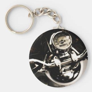 Vintage Scooter Basic Round Button Keychain