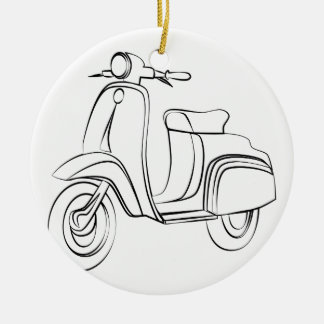 Vintage Scooter Ornament