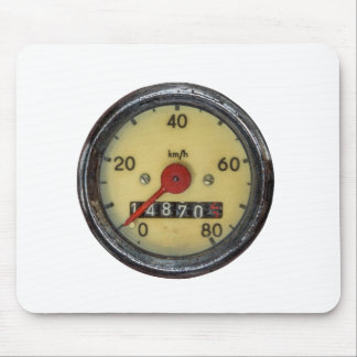 Vintage Scooter Speedometer Mouse Pad