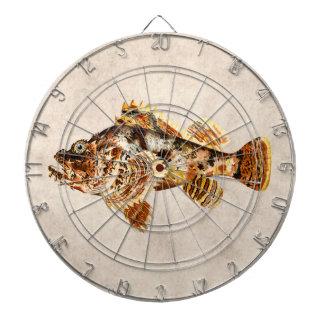 Vintage Scorpion Fish - Antique Hawaiian Print Dart Boards