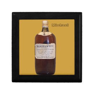 Vintage Scotch Whiskey Bottle Keepsake Box
