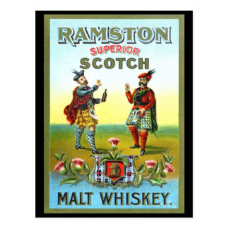 Vintage Scotch Whiskey LABEL Postcards