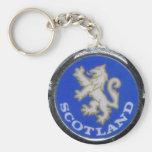 vintage scotland badge keychain