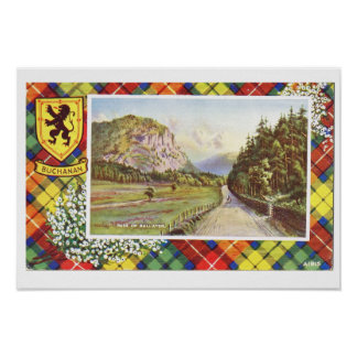 Vintage Scotland, Buchanan, Pass of Ballater Poster