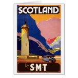 """Vintage Scotland Bus Company Travel Poster"""