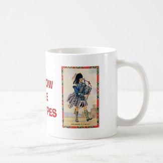Vintage Scotland, Follow the Bagpipes Coffee Mug