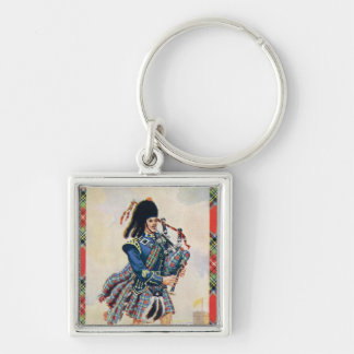 Vintage Scotland, Follow the Bagpipes Keychain