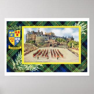 Vintage Scotland, Fraser, Gordon, Edinburgh Castle Poster