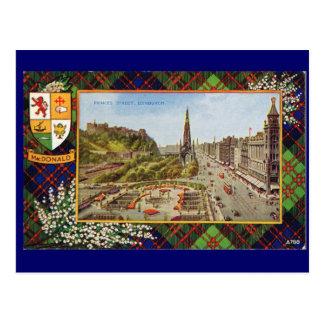 Vintage Scotland, MacDonald Tartan Postcard