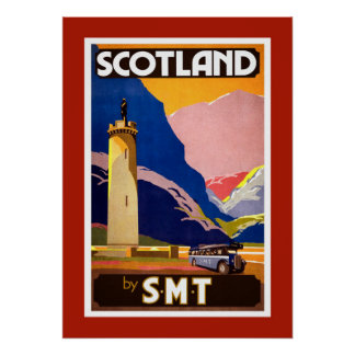 Vintage Scotland Travel Poster