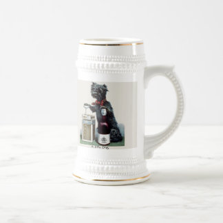Vintage Scottie Dog Alcohol Stein