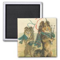 Vintage Scottish Dogs Magnet