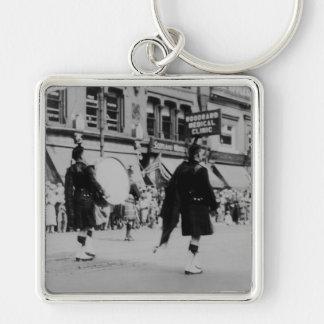 Vintage Scottish Marching Band Keychain