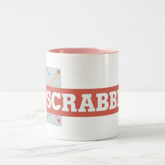 Vintage Scrabble Logo Two-Tone Coffee Mug