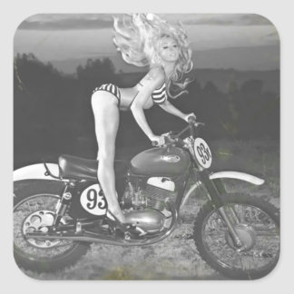 VINTAGE SCRAMBLER AND HOT MODEL SQUARE STICKERS