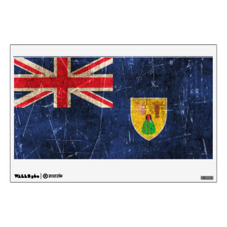 Vintage Scratched Flag of Turks and Caicos Wall Sticker