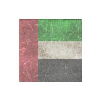 Vintage Scratched Flag of United Arab Emirates Stone Magnet