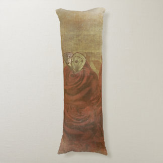Vintage Scratched Roses Body Pillow