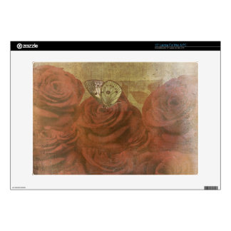 Vintage Scratched Roses Decals For Laptops