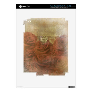 Vintage Scratched Roses iPad 3 Decals