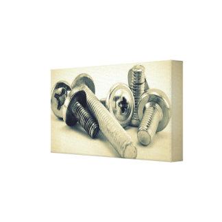 Vintage Screws Impresión En Lona Estirada