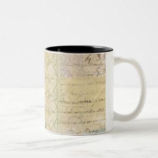 Vintage Script Layer Collage Mug