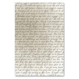"Vintage Script Text Art Tissue Paper 10"" X 15"" Tissue Paper"