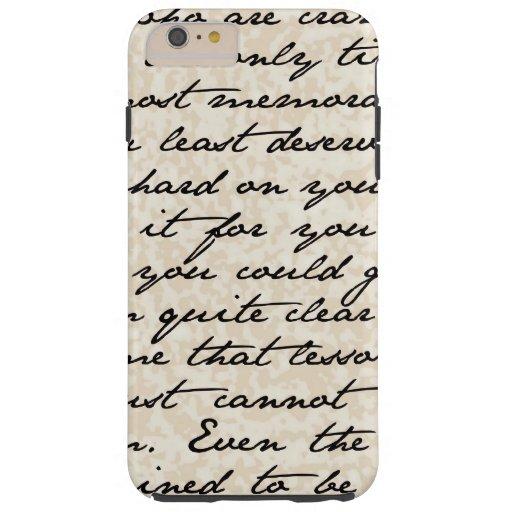 Vintage Script Text iPhone 6 Plus Case