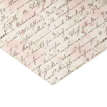 Vintage Script Tissue Paper