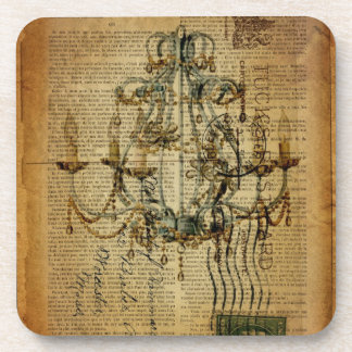vintage scripts French Country Vintage Chandelier Coaster