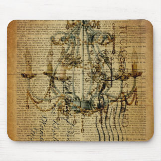 vintage scripts French Country Vintage Chandelier Mouse Pad
