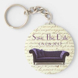 vintage scripts paris chandelier wedding keychain