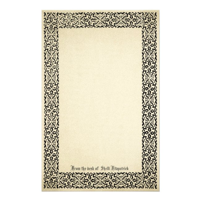 Vintage Scroll Border Parchment Personalized