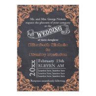Vintage scroll leaf frame and chalkboard wedding 5
