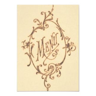 Vintage Scroll Menu Card
