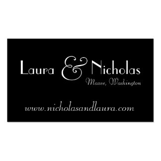 Vintage Scroll Monogram Black & White Website Card Double-Sided Standard Business Cards (Pack Of 100)