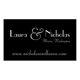 Vintage Scroll Monogram Black & White Website Card Business Card Templates