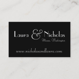 Wedding website business cards zazzle vintage scroll monogram black white website card colourmoves