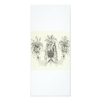 Vintage Scroll Plate Notecard Potted Plants