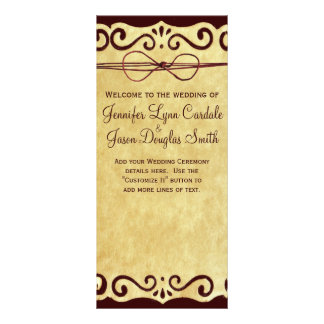 Vintage Scroll Rustic Country Wedding Program