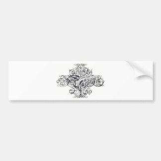 Vintage scroll typography design bumper sticker