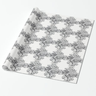 Vintage scroll typography design wrapping paper