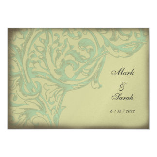 "Vintage Scrolling Acanthus II Invitation 5"" X 7"" Invitation Card"