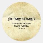 Vintage Scrolls Address Label Stickers