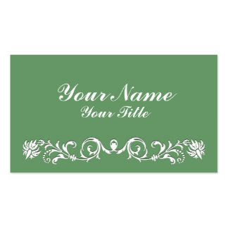 Vintage Scrolls Double-Sided Standard Business Cards (Pack Of 100)