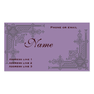 Vintage Scrollwork Business or Name Card Double-Sided Standard Business Cards (Pack Of 100)